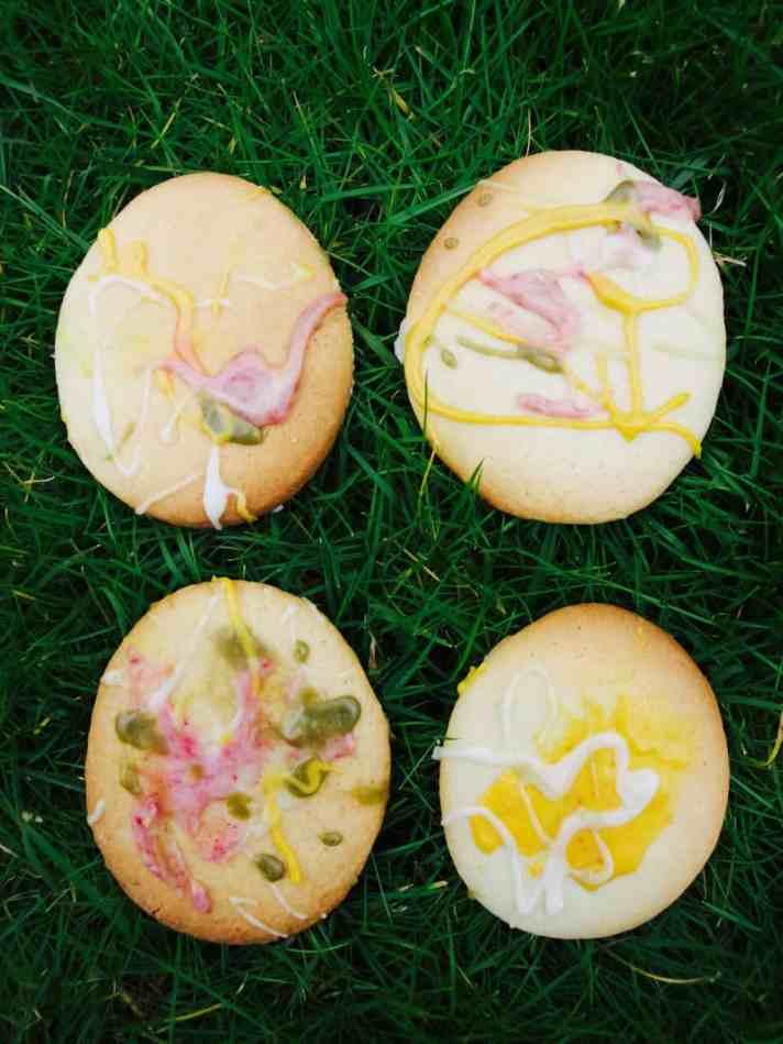 Kids art Easter cookies diy