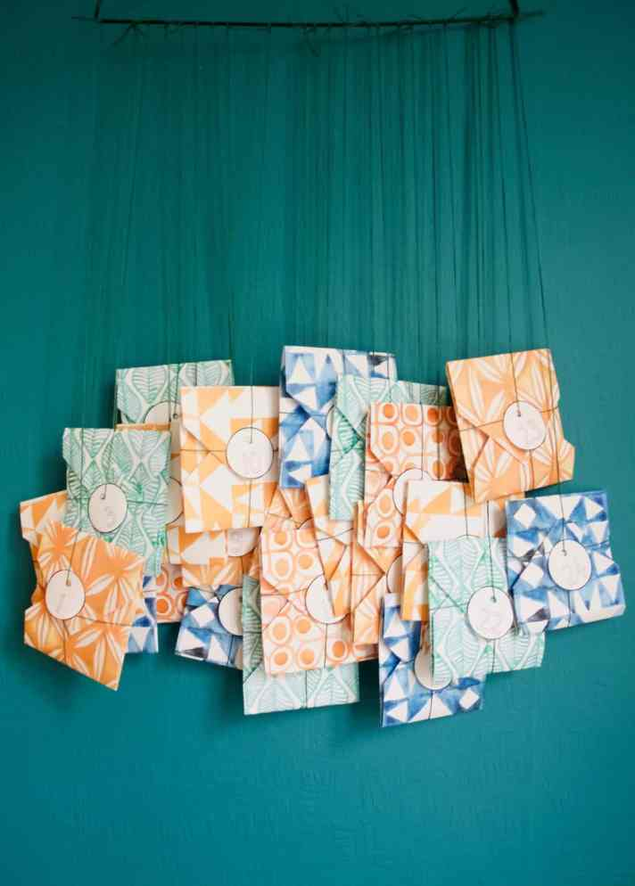 Origami advent calendar DIY