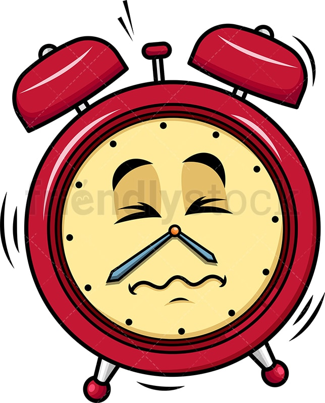 Ringing Alarm Clock Emoji Cartoon
