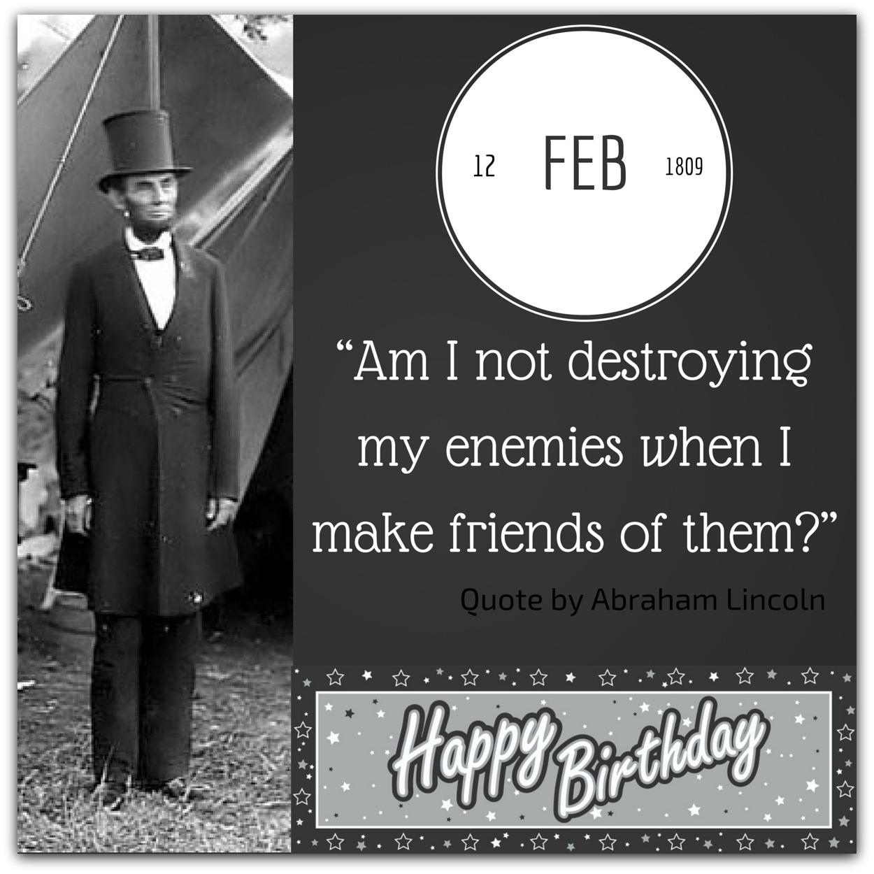 Happy Birthday Abraham Lincoln February 12 Event