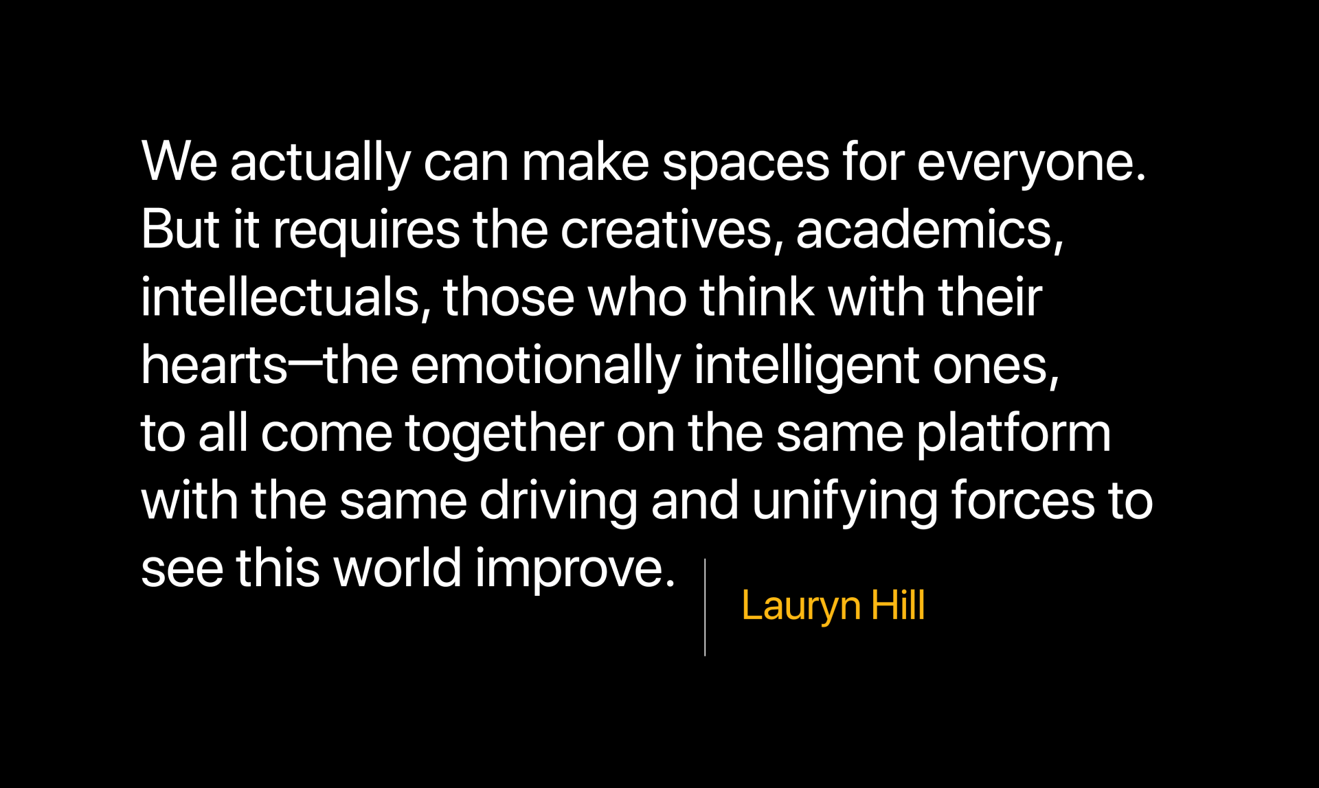Lauryn Hill quote about creatives