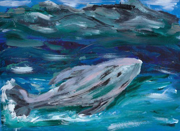AL A Fish in the Sea 9×12 Acrylic $40 7-18