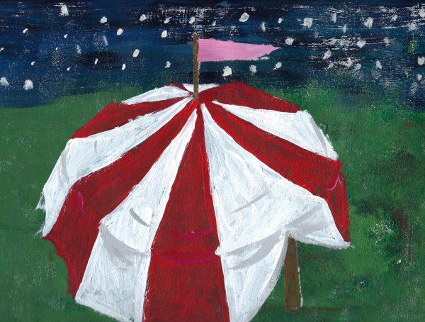 AM circus tent 9×12 acrylic $40 7-19
