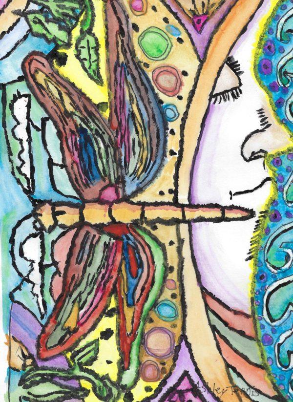 AT flutter dreams 9×12 mixed $35 11-17