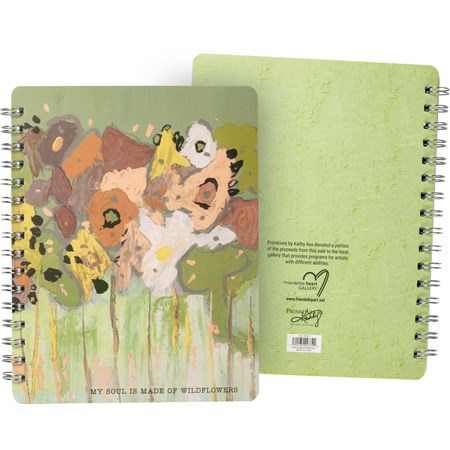 Spiral Notebook – My Soul Is Made Of Wildflowers