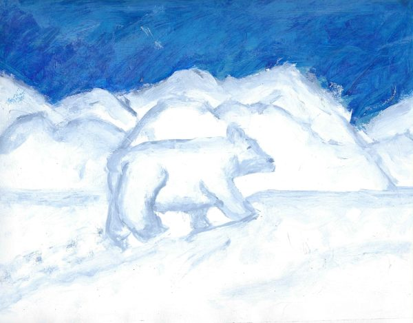 AM ice age 9×12 acrylic 8-17 $45