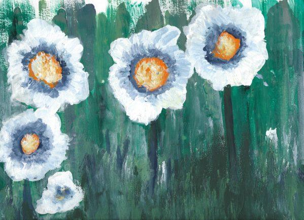 BP Deighted Daisy 9×12 acrylic $45 2-16
