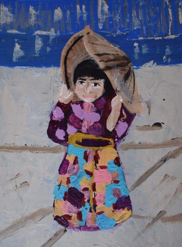 "BRS ""Colorful Kimono"" 9×12 acryllic $40 8-18"