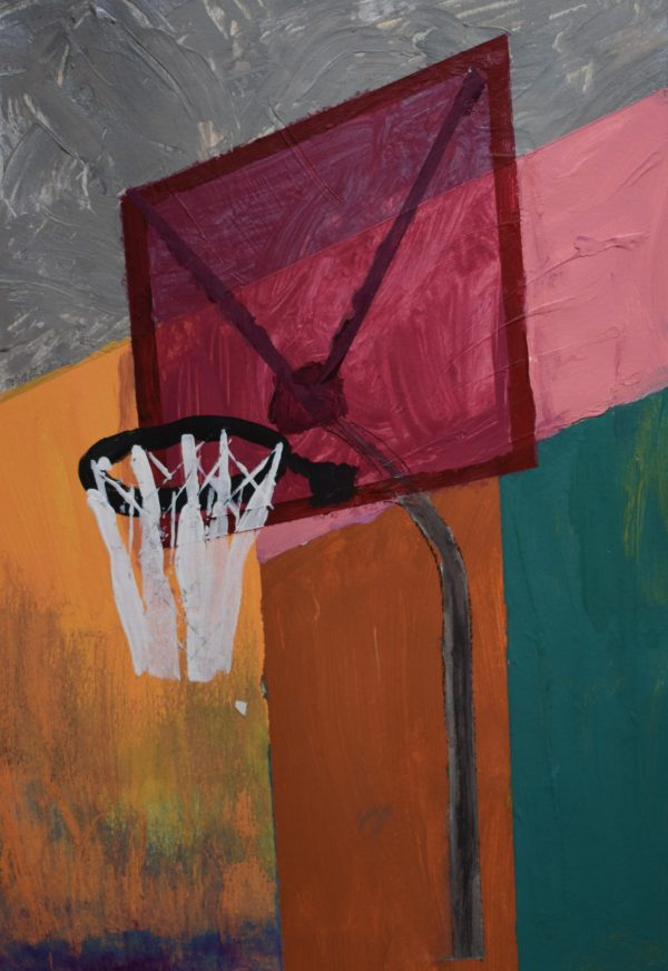 "BRS ""Slam Dunk"" 9×12 acryllic $40 12-17"