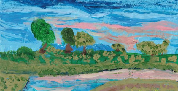 BW Blushing River 6×12 acrylic $40 2-17