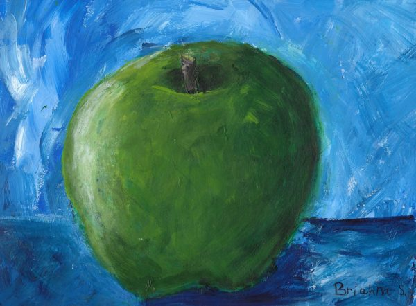 BrS Green Apple Glow 9×12 acrylic $45 2-17