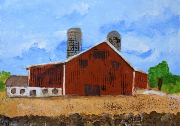 CG Crimson Cowshed 9×12 Acrylic $45 6-17
