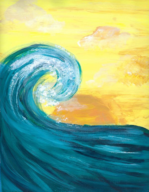 EmH the perfect wave 9.5×12 acrylic $50 2-20