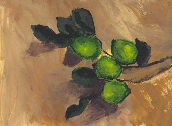 CH Lime 9×12 acrylic $40 4-16
