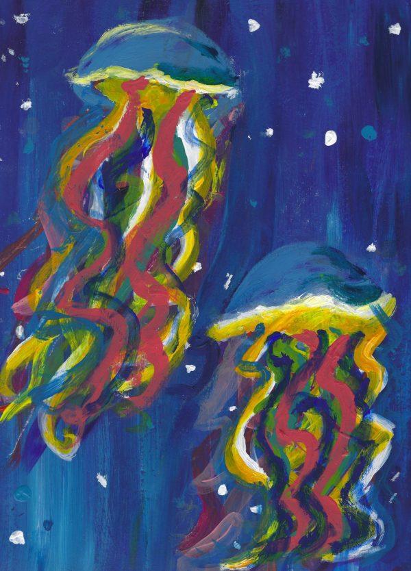 DS Deep in the Ocean 9×12 acrylic $50 9-18
