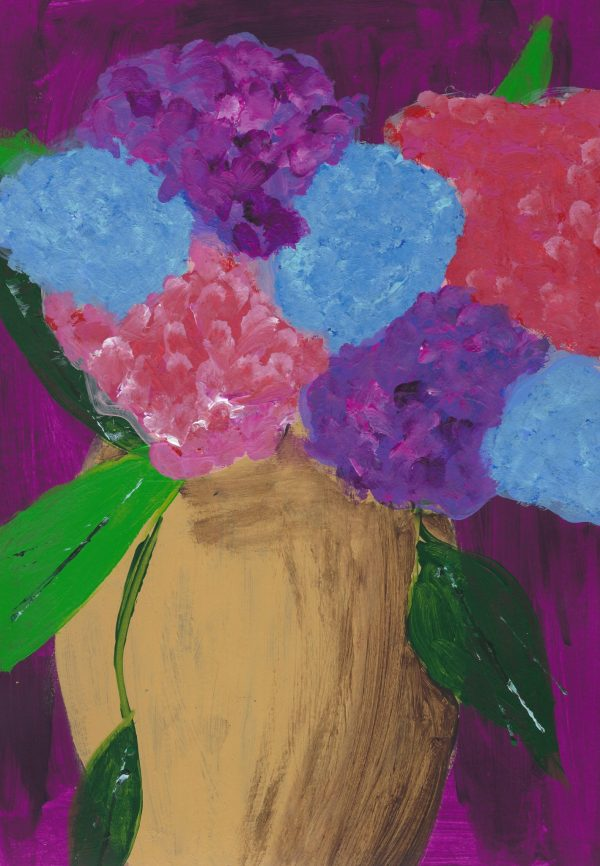 DS Floral Fluffs 8.5×12 acrylic $45 7-16