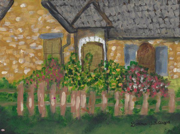 DS Garden Gate 9×12 acrylic $45 7-17