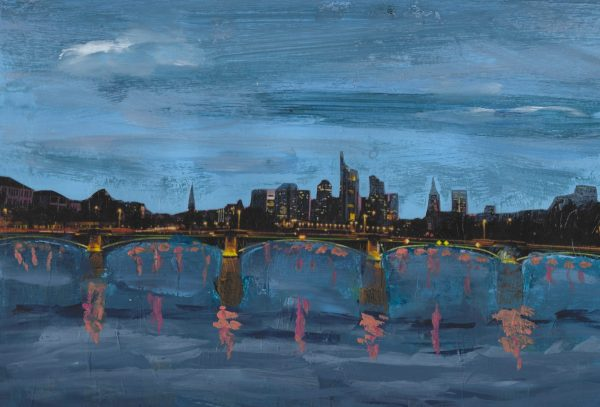 DS Night in the City 9×12 mixed $45 10-18