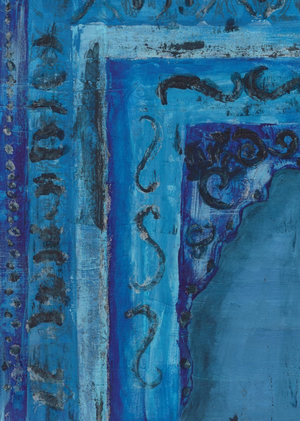 DaK Blue Corners 9×12 mixed $50 8-18