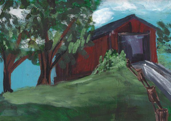 EG Countryside Coverage 9×12 acrylic $45 6-19