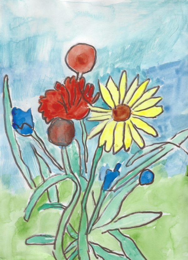GS April Flowers Bring May Flowers 9×12 mixed $45 11-18