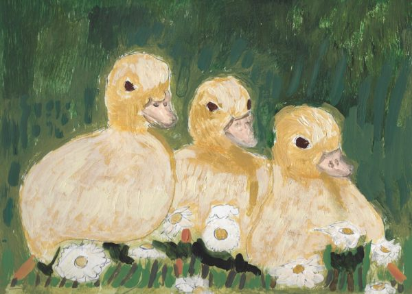 GS Ducklings 9×12 acrylic $45 11-17