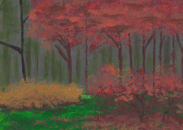 JS Autumn Depths 6×8.5 acrylic $40 12-15