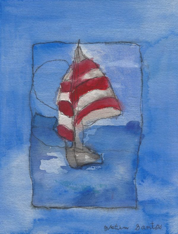 JuS Come Sail Away 8×10.5 mixed $55 5-18