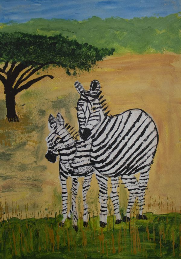 RE All in Stripes 11×14 acrylic $55 11-19