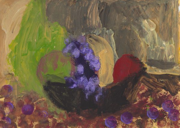 RW Upset the Fruit Basket 9×12 acrylic $45 12-17