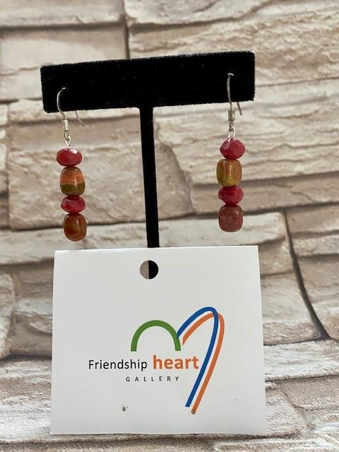 4 stone earrings JS