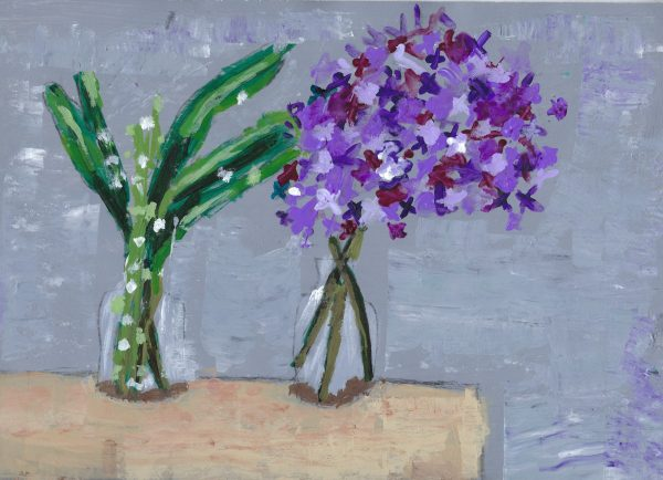 DS Tabletop Flowers 9×12 acrylic $45 6-19