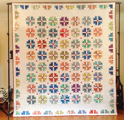 "2016 Raffle Quilt, ""Carnival"" -- Front View"