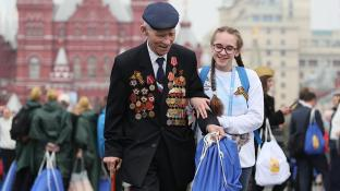 Veteran at Victory Day parade