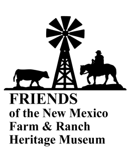 Friends of the New Mexico Farm and Ranch Museum logo, vertical