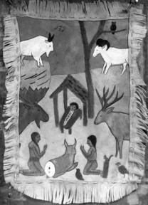 """""""A First Nations rendering of the Nativity story."""" Image I-61883/RBCM&A"""