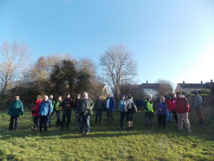 Walk To The Source - 30/01/2016. - Team photo on the slopes from the cycle path (between Stockwood and Whitchurch) down to Saltwell Viaduct.