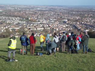 Walk To The Source - 30/01/2016. - The view at Dundry looking north over Whitchurch, Hengrove and the city.