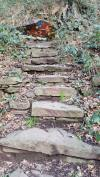 Steps leading to the cove.