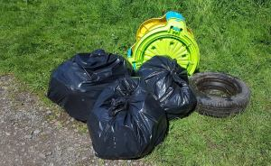 Collecting rubbish from St Anne's Woods.