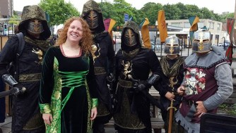 Five Medieval Knights and one fair maiden.