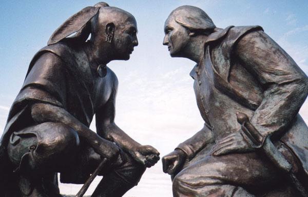 Native American and George Washington