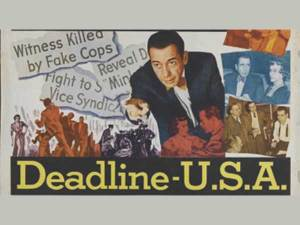deadline USA movie poster