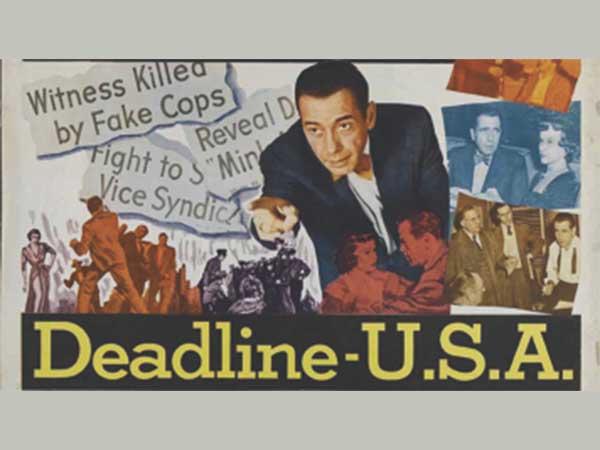 deadline USA movie poster