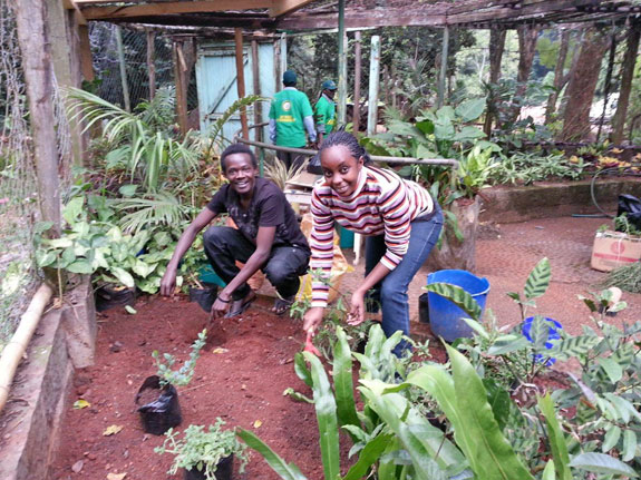Soil, compost, plants and smiles Photo by B. Khan