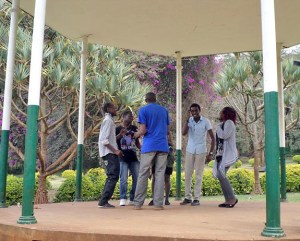 Performing at the Band stand by S. Shah