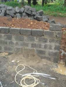 Stop wall in progress at City Park