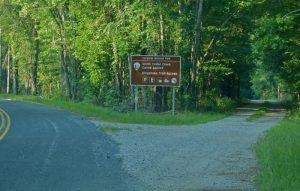 Sign to the Trailhead