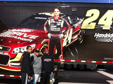 With Grandkids at Vegas Speedway supporting #24