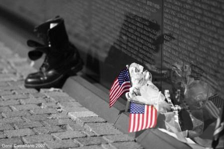 Vietnam Veterans Memorial - These colors don't run